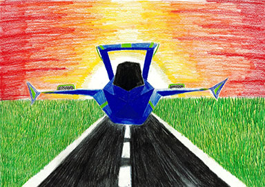 2018 Minnesota Aviation Art Contest | 3rd Place State Winner | Age Group 10-13 | Kate Friese