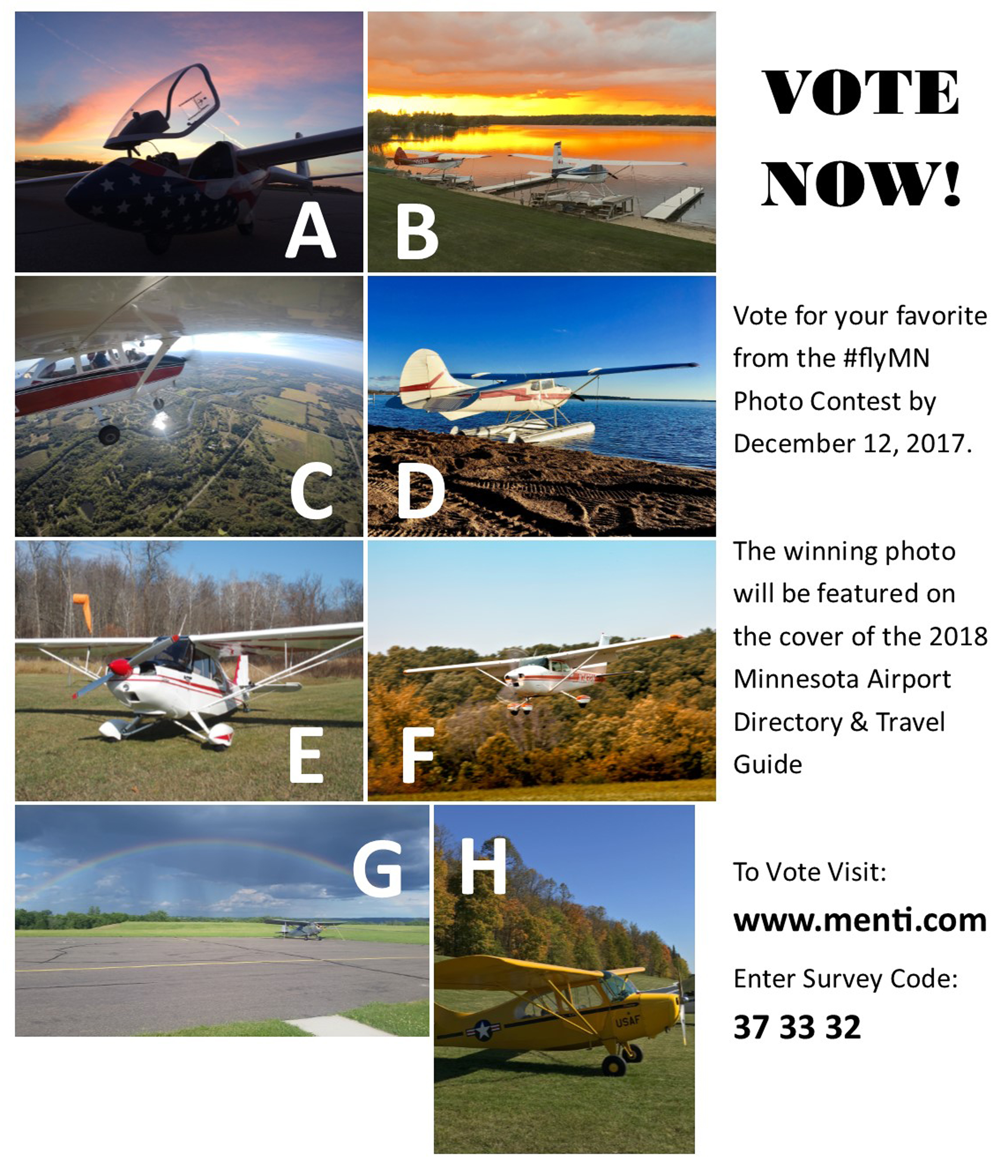 Fly Minnesota voting contest flyer