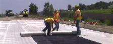 Geocomposite barrier drain installation, MnROAD 2006
