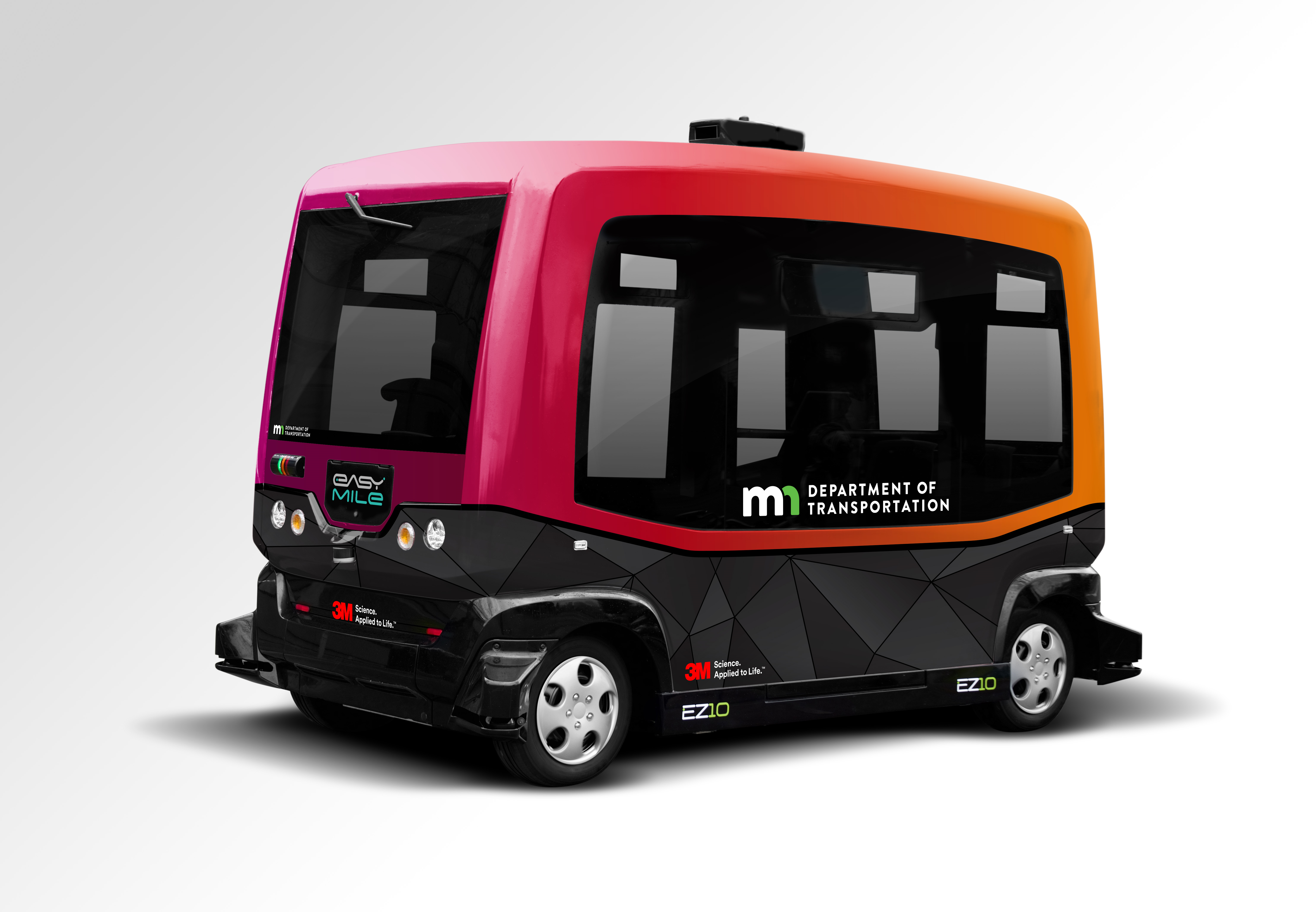 image of the MnDOT automated shuttle bus