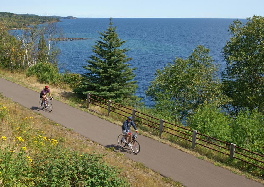 Bicycling on the Gitchi Gami state trail