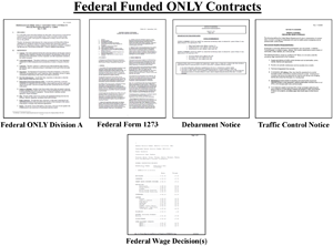 Layout of federal funded only contract documents