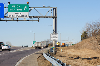 Weigh Station Open Sign
