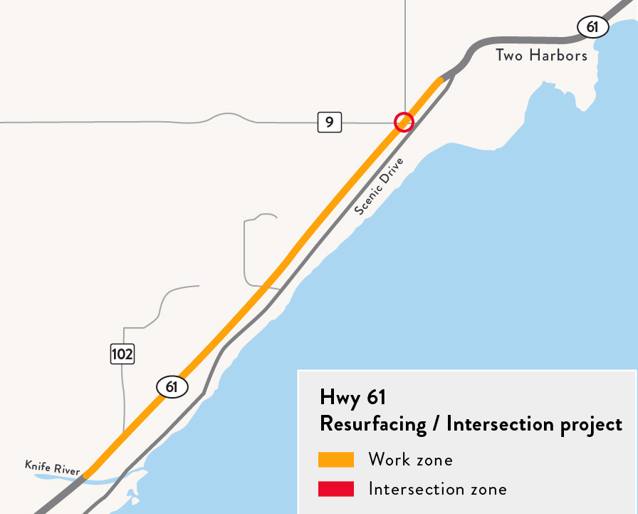 A rendering of the Hwy 61 Two Harbors project.