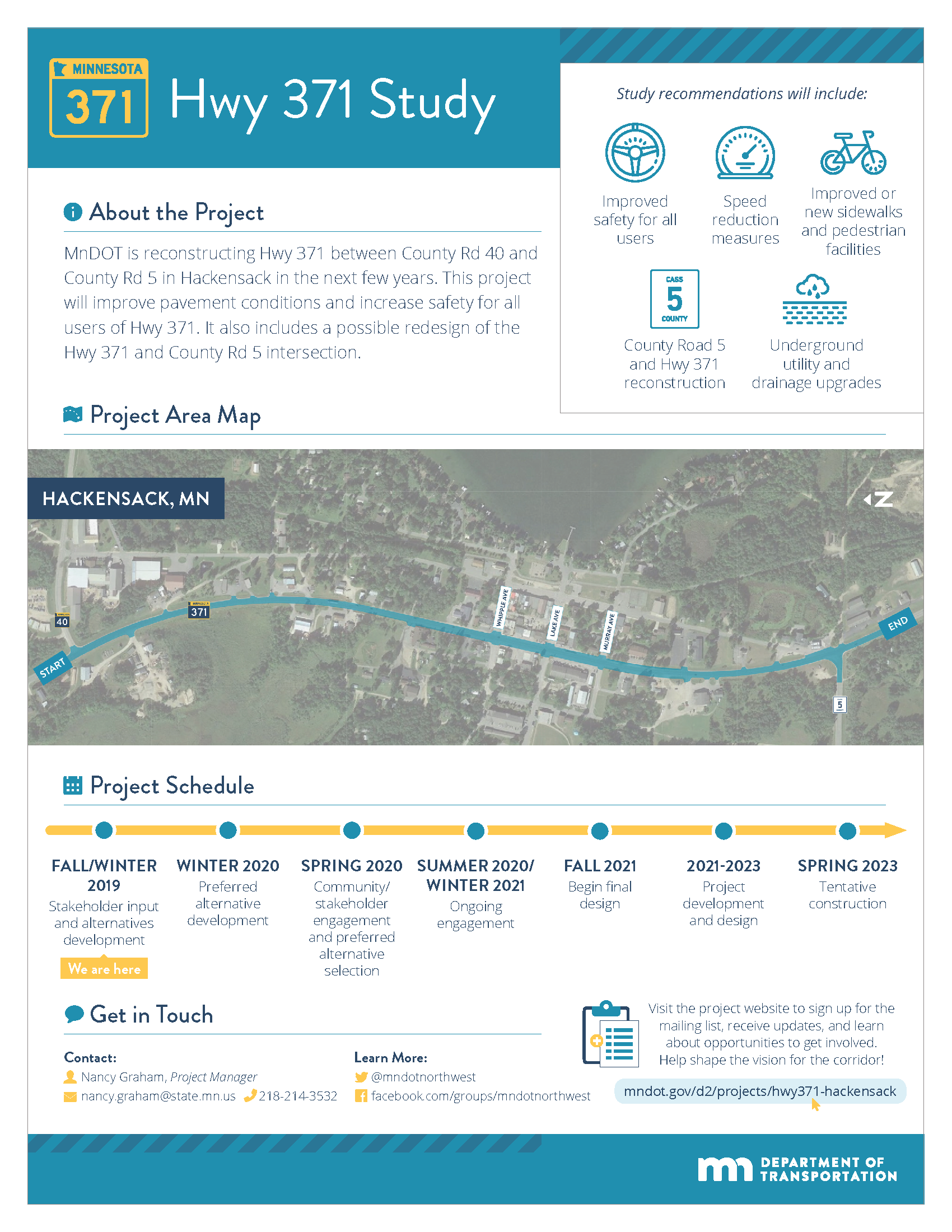Highway 371 study infographic describing the project