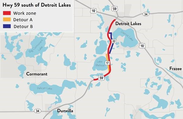 Portion Of Highway 59 South Of Detroit Lakes Now Open To Traffic