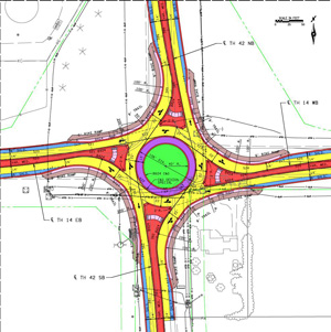 Hwy14/42 Roundabout