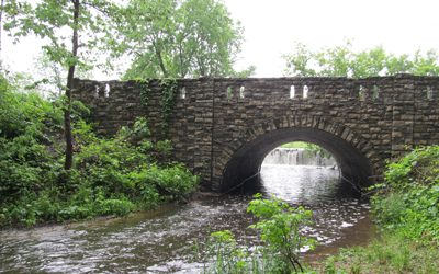 Historic Stone Arch Bridge near Carleton College in Northfield