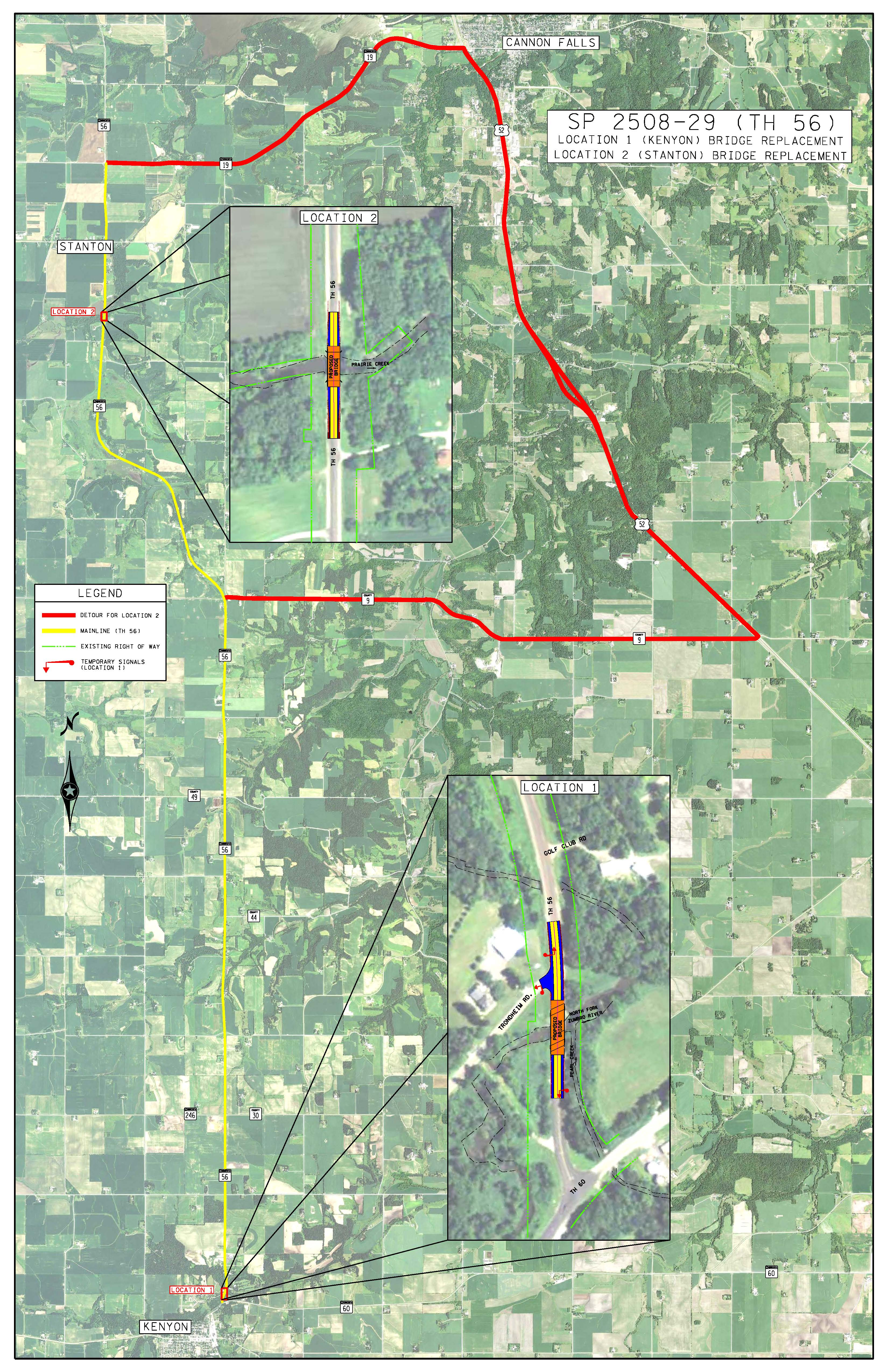 Hwy 52 construction map