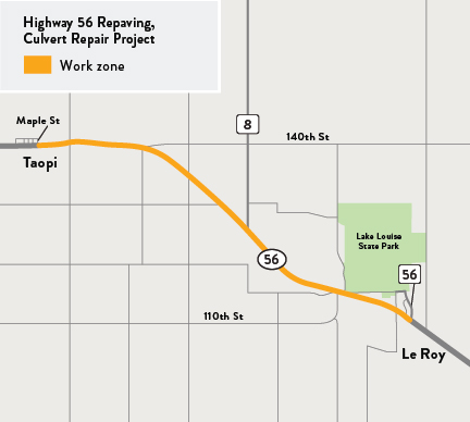 Hwy 56 project  map