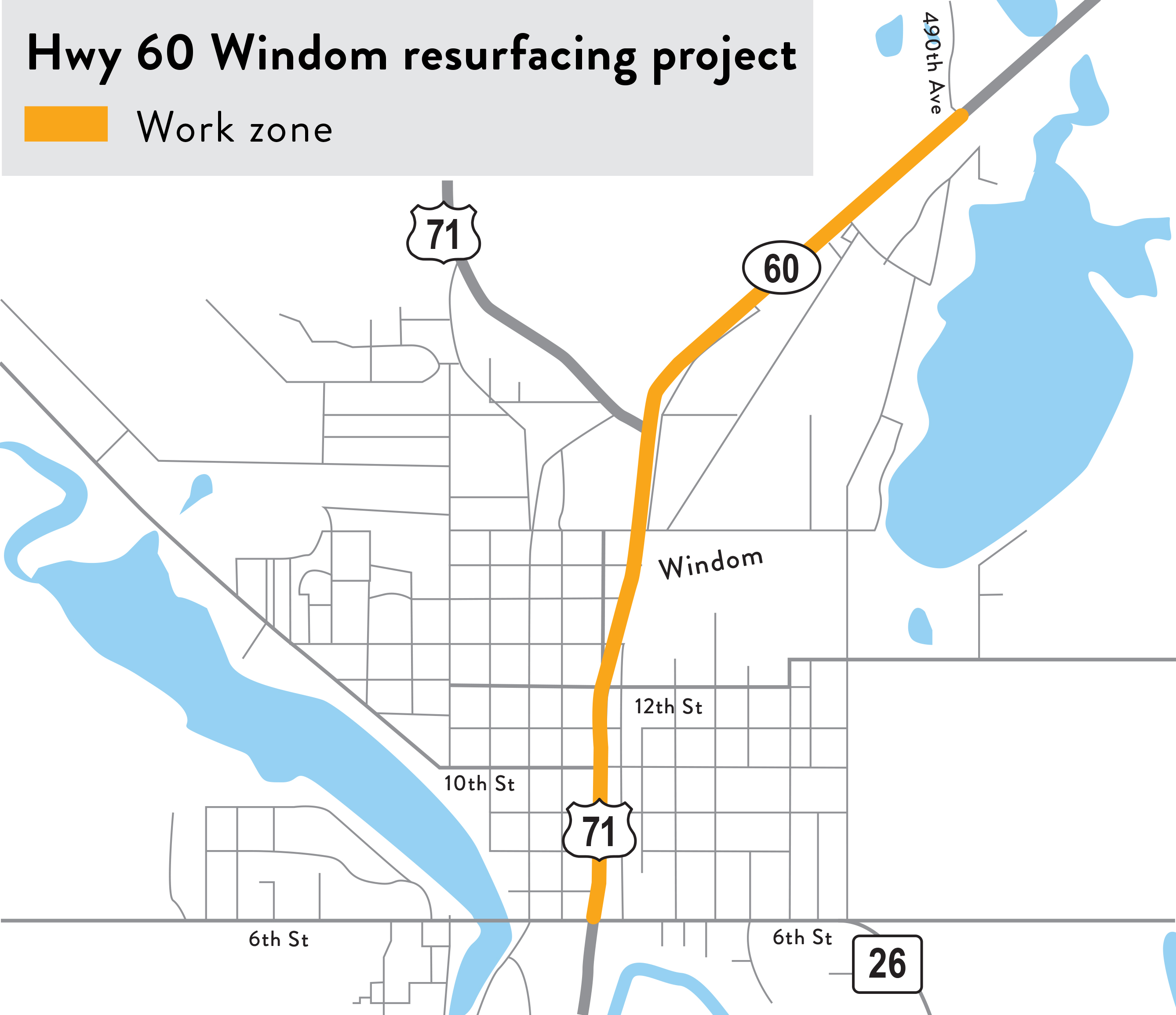 Mn Highway Map, Hwy 60 In Windom Project Map, Mn Highway Map