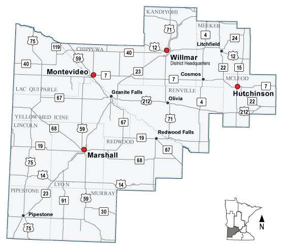 Southwest Minnesota District 8 – Mn Dot Travel Map