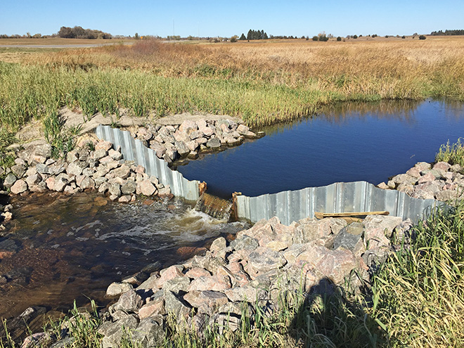 Repairing a culvert along Hwy 71 in Willmar