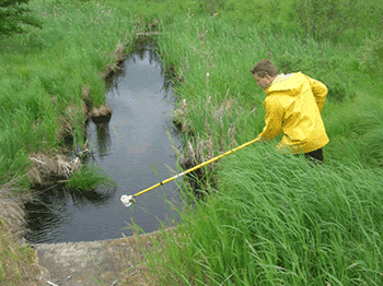 researchers testing water quality