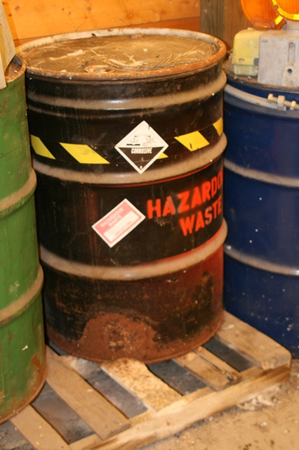 Barrel of hazardous waste