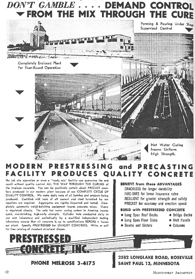 figure 9 advertisement for the soukup brothers new casting and fabricating plant prestressed concrete inc in the expanding postwar suburban twin