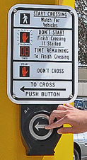 Image of an ADA compliant traffic crossing signal