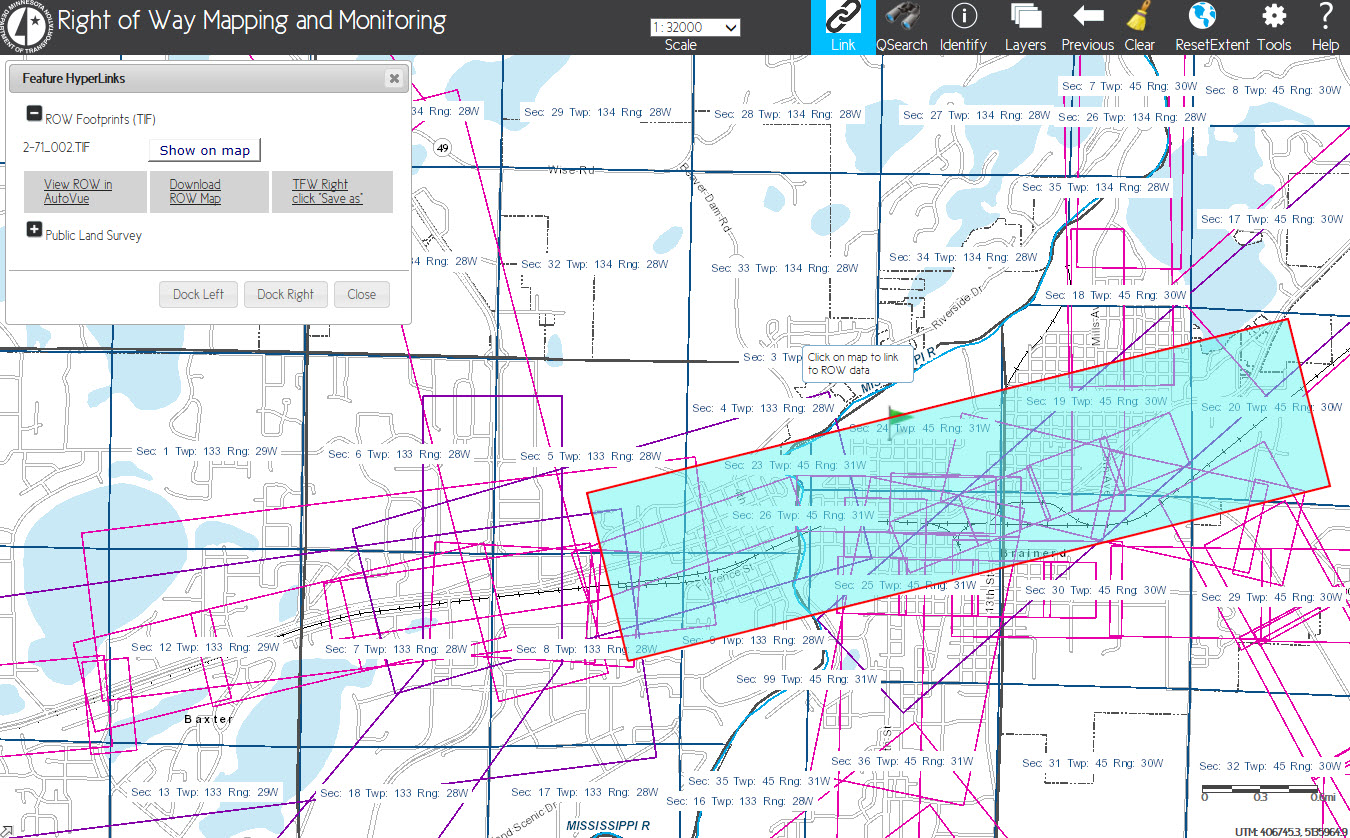 Right Of Way Mapping And Monitoring - Mn on us map