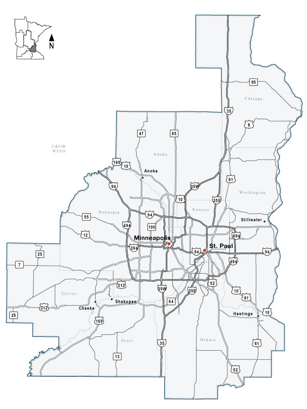 Twin Cities Metro Area Regional Information – Mn Dot Travel Map