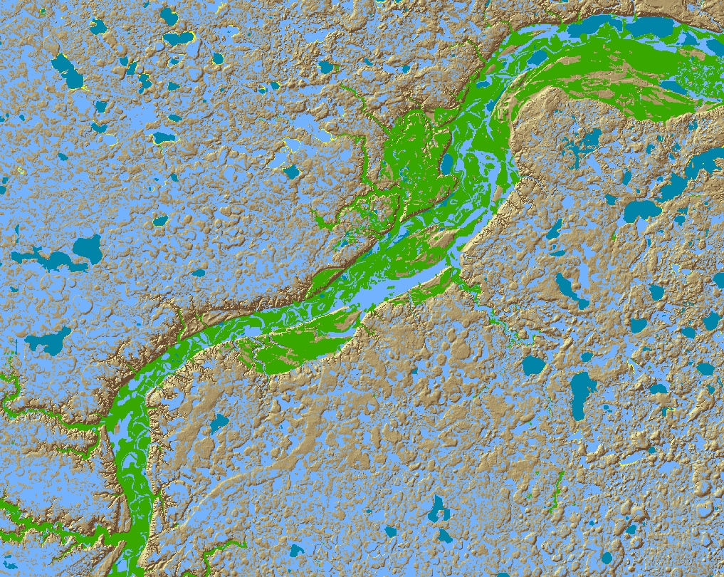 Map of Prehistoric Surface Hydrographic Model