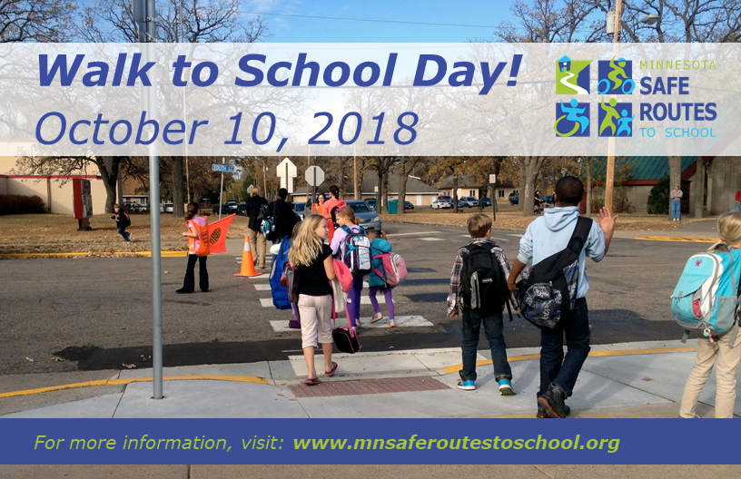 image of walk to school day promotional materials example