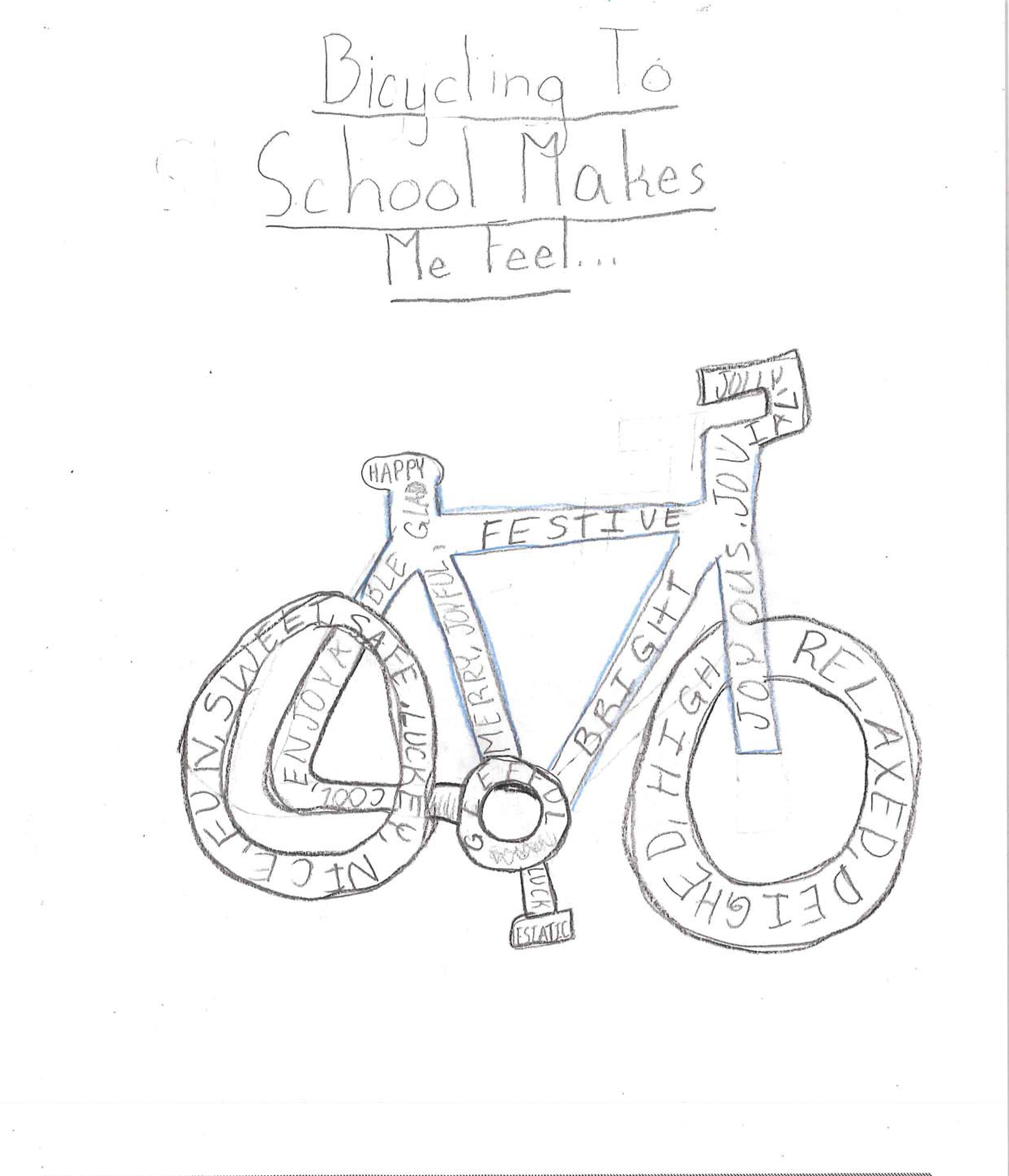 image of bicycle with words describing how it feels written on it