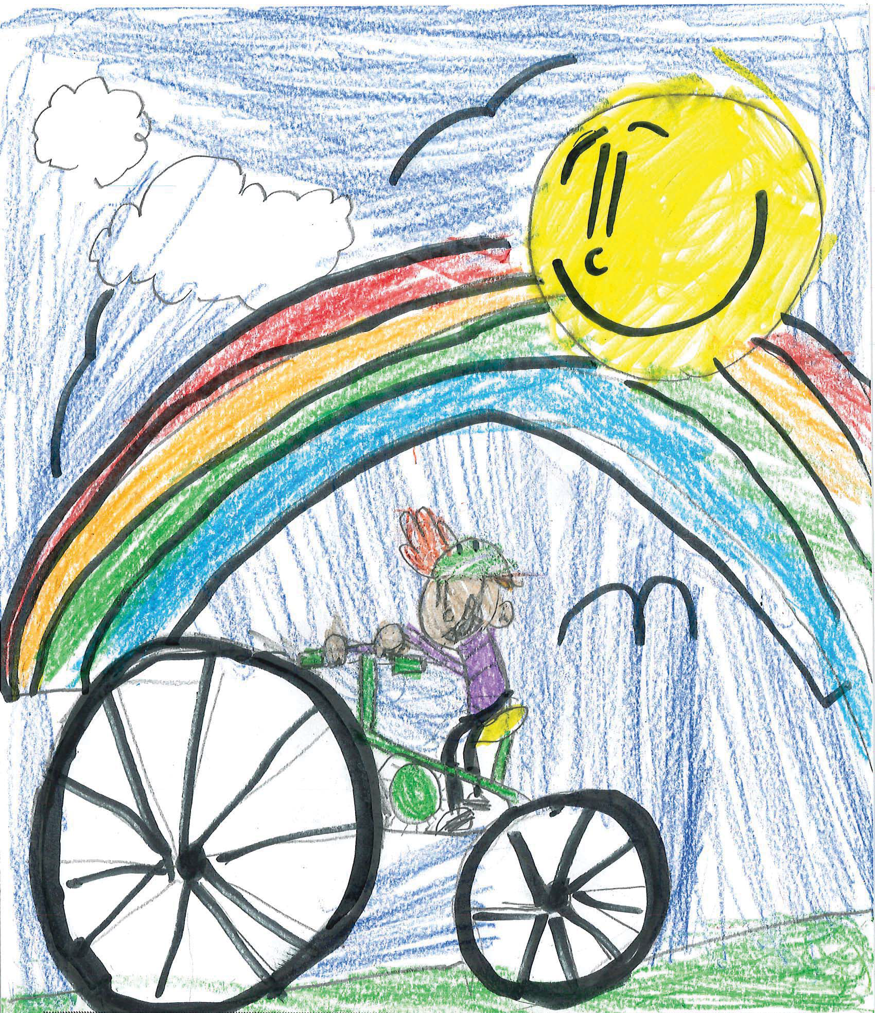 image of child riding bicycle