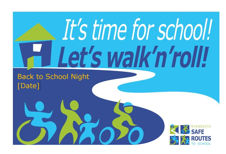 Flyer: It's time for school! Let's walk'n'roll!