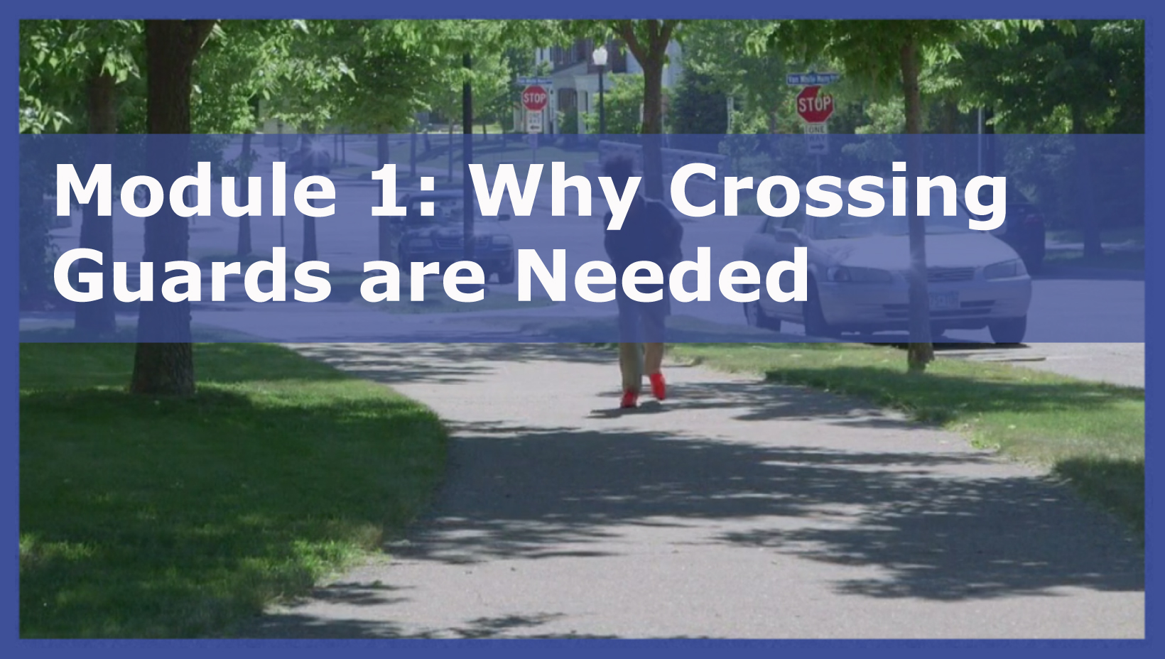 Photo of Module 1: Why Crossing Guards are Needed