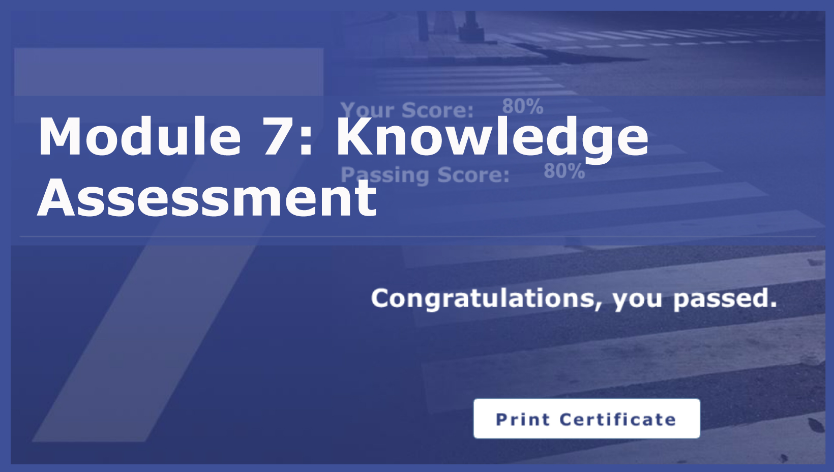 Photo of Module 7: Knowledge Assessment