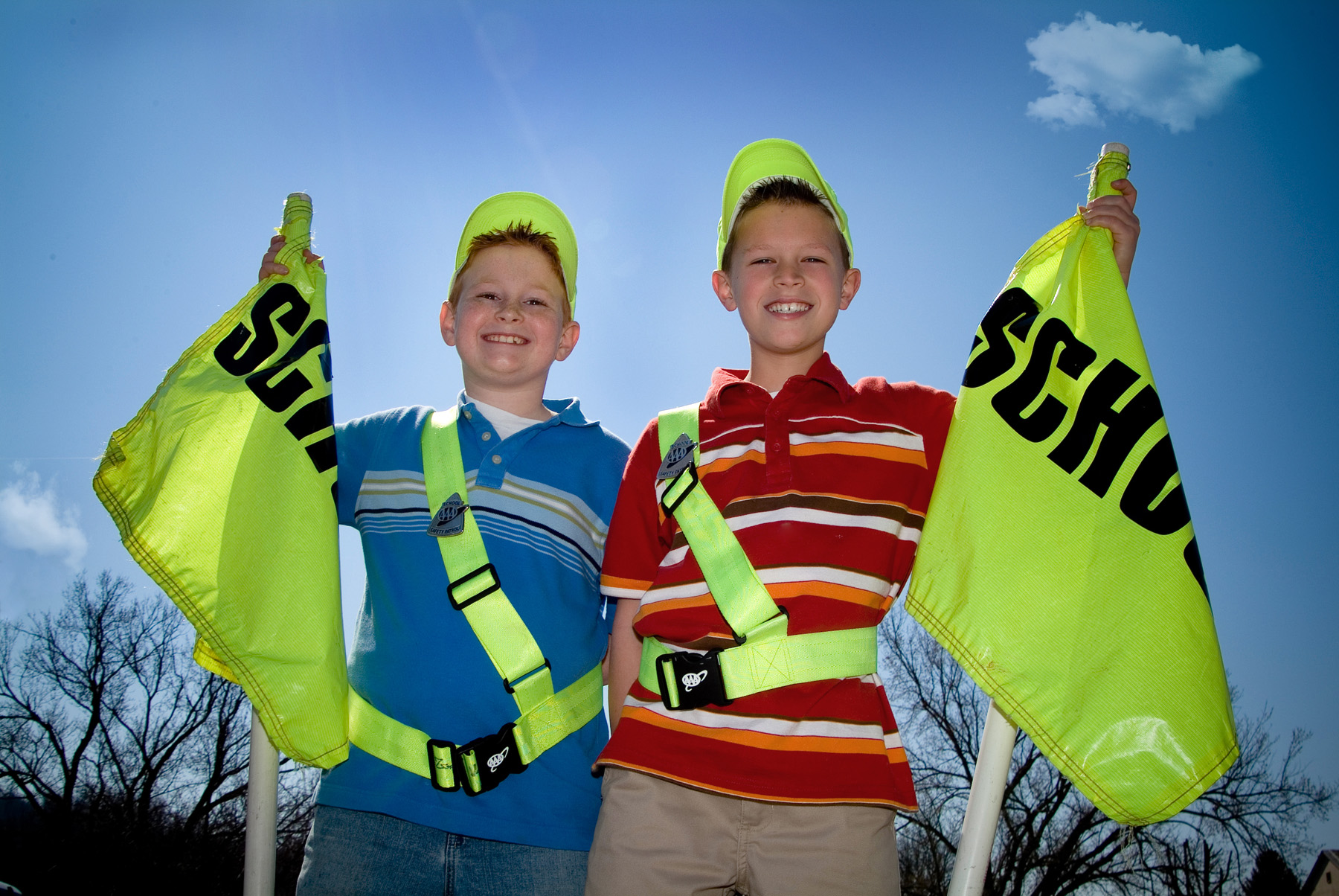 photo of two student safety patrollers