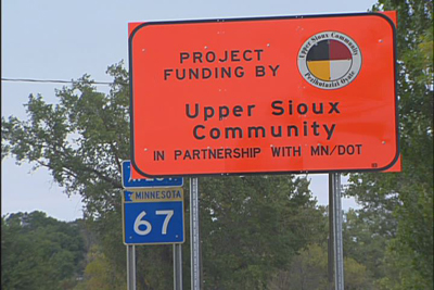 image of highway 67 construction project sign