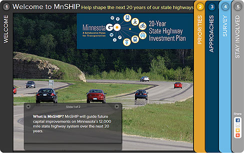 Screenshot image of the MnSHIP Interactive scenario tool