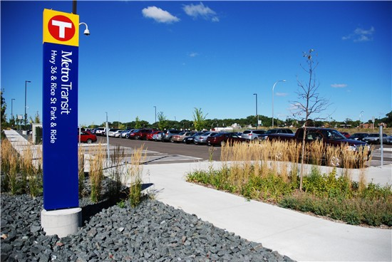 Metro Transit park-and-ride facilities in the Twin Cities provide parking for commuters using light rail or rapid transit buses