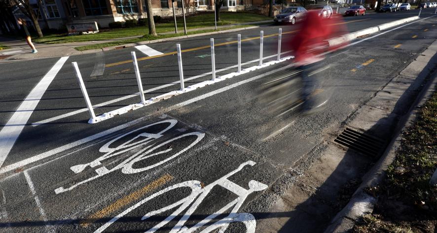 Delineated Bike Lane Image