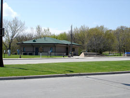 image of blue earth rest area