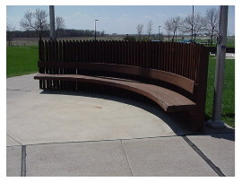 image of des moines river rest area