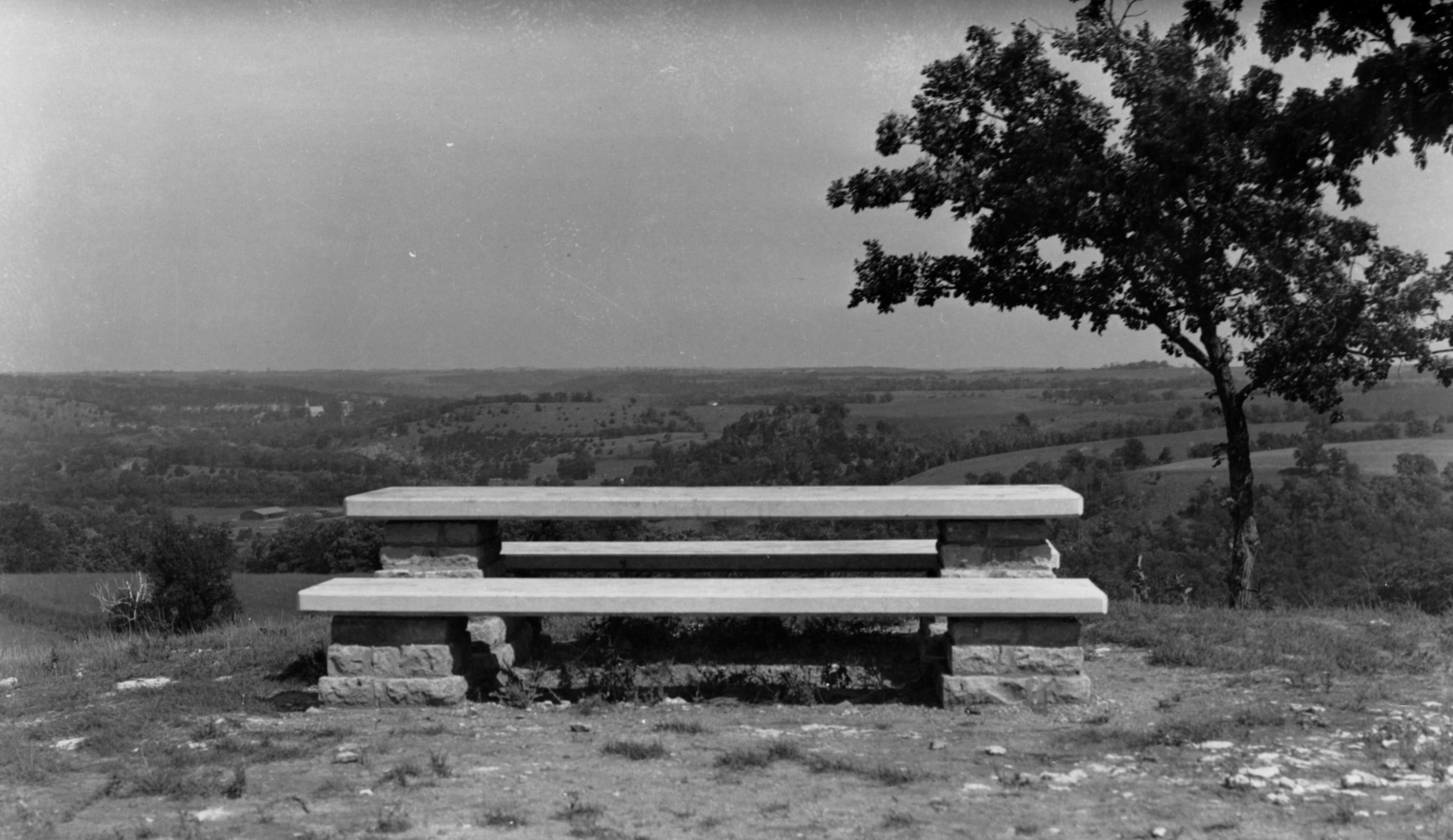 East Overlook. View of the Root River Valley, ca. 1936, following initial completion.