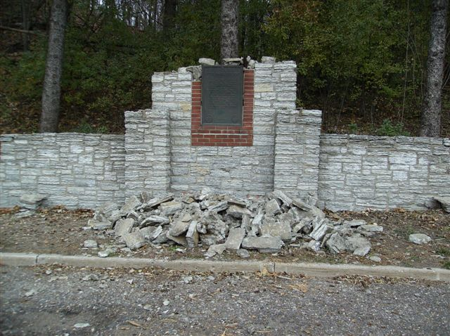 This Chaska Historic Marker first appeared in the 1940s. It is pictured here in 2006, three years before its restoration.