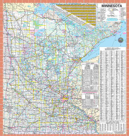 Official Minnesota State Highway Map - Us interstate map with cities