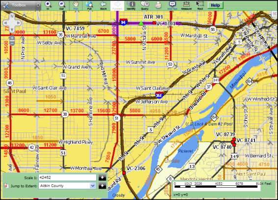 Traffic Mapping Application screen preview