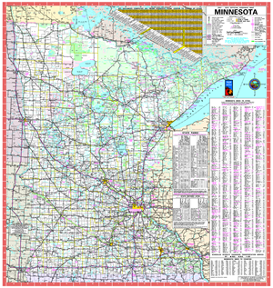 Minnesota state highway map