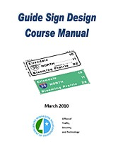 Traffic Guide Sign Design Manual cover