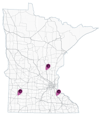 map of minnesota showing Cooperative Intersection Collision Avoidance System