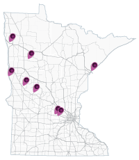map of minnesota showing Intersection Conflict Warning System