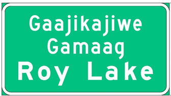 Dakota or Ojibwe language signing example