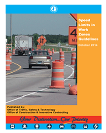 speed limits in work zones guidelines manual cover