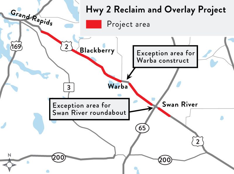 A rendering of the Hwy 2 reclaim project.