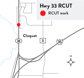 A rendering of the Hwy 33 RCUT project.