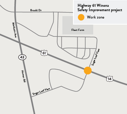Hwy 61 intersection safety improvements